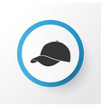 baseball cap icon symbol premium quality isolated vector image