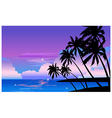 Beach at night vector image
