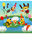 birthday insects vector image vector image