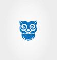 blue owl logo vector image vector image
