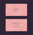 business card for beauty brand or makeup vector image vector image