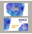 business cards template with watercolor vector image vector image
