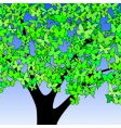 butterfly tree vector image vector image