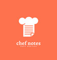 chef notes logo vector image vector image