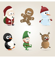 Christmas Characters vector image vector image