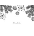 christmas concept hand draw sketch vector image vector image