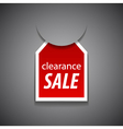 Clearance sale tag vector image