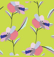 colorful pansy flowers stylized seamless pattern vector image vector image