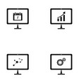 computer screen icon set vector image vector image