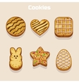 Cookies in different shapes set vector image vector image