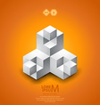 Cubes logo vector image vector image