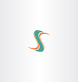 dark green orange letter s icon vector image vector image