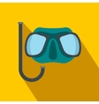 Diving mask flat icon vector image vector image