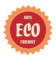 eco friendly label in a seal shape vector image vector image