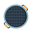 empty home grill top view vector image