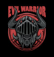evil warrior vector image