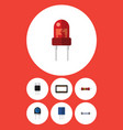 flat icon appliance set of recipient receptacle vector image