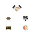 flat icon lifestyle set of boardroom bureau vector image vector image