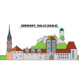 germany halle saale city skyline architecture vector image vector image