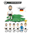 germany national soccer cup team football player vector image vector image