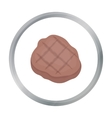 Grilled steak icon in cartoon style isolated on vector image