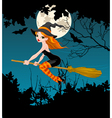Halloween Witch banner vector image vector image