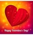 Heart from paper Valentines day card vector image vector image