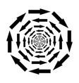 icon mixing symbol arrows in circle vector image