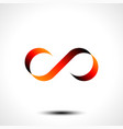 infinity symbol or logo design isolated on white b vector image