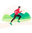 jogging and running man runner in motion vector image vector image