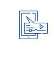 media message line icon concept media message vector image vector image