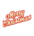 merry christmas greetings card sign vector image vector image
