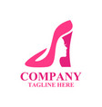 modern shoes and beauty logo vector image