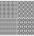 Monochrome geometrical patterns background texture vector image