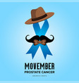 movember prostate cancer month awareness vector image vector image