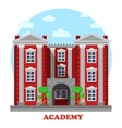 National military or science academy facade vector image vector image