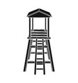 observation tower for huntersafrican safari vector image vector image