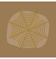 paper sticker on stylish background spider web vector image