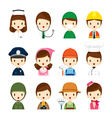 People Occupations Icons Set vector image