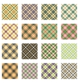 Plaid Patterns Collection vector image vector image