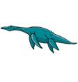 plesiosaurus vector image vector image