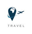 point travel logo vector image vector image