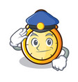 police chronometer character cartoon style vector image vector image