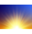 realistic sunrise background abstract summer vector image vector image