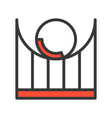 roller coaster icon filled outline style editable vector image vector image