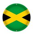 round metallic flag of jamaica with screws vector image