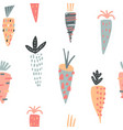seamless creative carrots pattern vector image