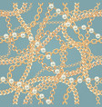 seamless pattern background with pears and chains vector image vector image