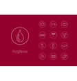 Set of hygiene simple icons vector image
