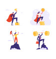 set successful business characters winners vector image vector image